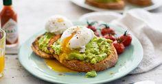 Tostas de ovo escalfado e abacate - NiT