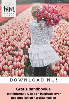 Gratis handboek met 24 pagina's informatie, tips en inspiratie over tulpen en narcissen: Hoe moet ik ze planten? Kunnen ze ook in potten? Hoe laat ik ze volgend jaar weer bloeien? Alles over water geven en bemesten Kies de mooiste soorten Download nu! #tulpen #narcissen #bloembollen #tuinieren #tuinontwerp #bloementuin #planten #bloemen Tulip Bulbs, Bulb Flowers, Flower Farm, Tulips, Crochet Hats, Spring, Garden, Plants, Knitting Hats
