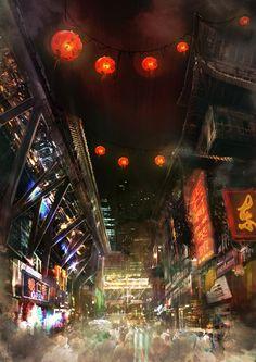 cyberpunkculture:    chinatown_by_darkki86-d4njqo5