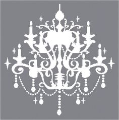 Cross Stitch Pattern Chandelier Silhouette 1 by AverlyPatterns Knitting Room, Stencils, Paper Chandelier, Dmc Floss, One Color, Cross Stitching, Cross Stitch Patterns, Crafty, Handmade