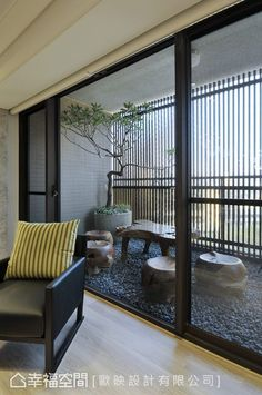 Outside the living room a beautiful covered terrace acts as a