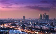 Moscow skyline at sunset. Bird's eye view by Dmitry Mordolff, via Flickr