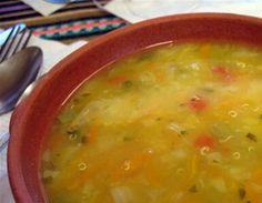 Sopa de quinoa.