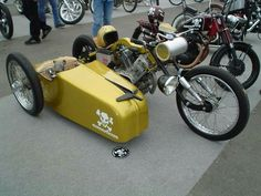 - General Chatter - The Chopper Underground Cool Motorcycles, Vintage Motorcycles, Harley Davidson Motorcycles, Bicycle Sidecar, Scooter Bike, Sidecar Motorcycle, Grease Monkey Garage, 3 Wheel Motorcycle, Side Car