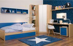 habitacion juvenil azules armario esquina friso.es