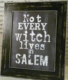 But a lot of them do ... #salem #witches