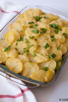 Aardappel ovenschotel met spinazie en gehakt