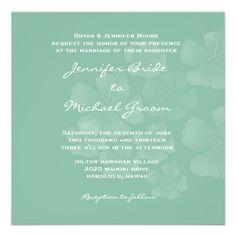 Destination Wedding Invitation #destinationwedding #designs #wedding #bride #invitations #DIYinvites #teal #hibiscus #hawaiian