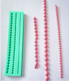 String of Pearls Silicone Fondant Mold Silicone by hahaDIY on Etsy, $6.69