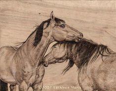Tomboy and Cimarron - Horses of Proud Spirit/Kathleenmariestudio