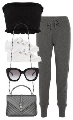 """Untitled #4856"" by amm-xo ❤ liked on Polyvore featuring Calvin Klein Collection, Jimmy Choo, Yves Saint Laurent and Kate Spade"