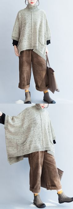 -autumn-fashion-cotton-knitted-sweater-oversize-batwing-sleeve-large-hem-sweater-pullover