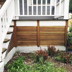 Top 50 Best Deck Skirting Ideas – Elevated Backyard Designs - Home & DIY Mobile Home Skirting, House Skirting, Deck Skirting, Front Deck, Back Patio, Front Porch, Deck Underpinning Ideas, Cedar Deck, Modern Deck