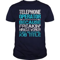 Awesome Tee For Telephone Operator T-Shirts, Hoodies. GET IT ==► https://www.sunfrog.com/LifeStyle/Awesome-Tee-For-Telephone-Operator-116208660-Navy-Blue-Guys.html?id=41382