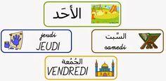 les jours de la semaine en français / arabe