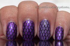 Purple fishnet http://omgnoodles.blogspot.co.uk/2011/10/purple-fishnets.html