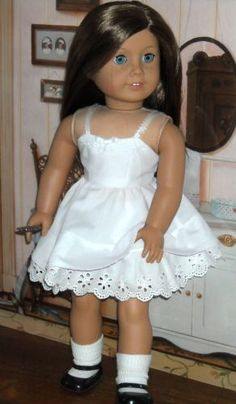 Full Cotton Slip and Panties by KMK Fits Popular 18 inch Dolls | eBay