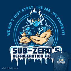 Parody T-Shirt: Sub-Zero's Refrigeration Repair.
