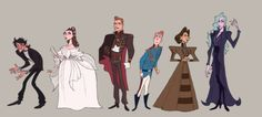 """mimiadraws: """"been busy this week! This week's character design assignment was a lineup. I drew the cast of Elisabeth, specifically the 2007 Takarazuka version! Character Concept, Character Art, Concept Art, Character Design Animation, Character Design References, Prop Design, Character Design Inspiration, Character Illustration, Art Reference"""