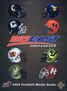 2005 BIG EAST Football Media Guide Cover #bemediaday
