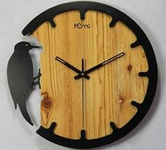 The clock is really an important part for a home. Not only to show the time, but a clock also is a home decoration. That's why we should not put it easy when we choose what clock for our wall… Continue Reading → Diy Clock, Clock Decor, Cool Clocks, Wall Clock Design, Clock Wall, Ideias Diy, Cnc Projects, Wooden Clock, Wood Wall