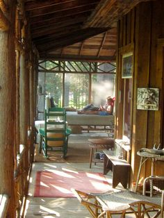 Cabin Porch on the Brule River, WI