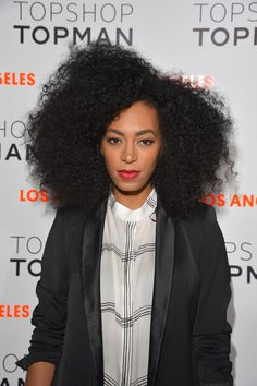 I wonder how long it takes Solange Knowles to pick out her Afro to get this volume?