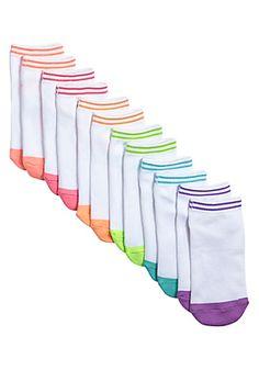 6 Pack Stripe Tipped Socks