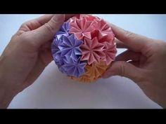 Кусудама супершар оригами - YouTube