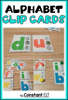 Alphabet clip cards and not only! Use these uppercase and lowercase cliparts to differentiate your lessons and assist all students!