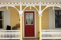 Front Entry Porch Yellow