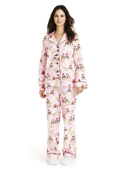 New Charter Club Flannel Pajama Set Pants Ivory Red