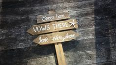 Shoes Here Vows There Beach Wedding Pallet by SawmillCreations