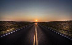 Download imagens estrada, conceitos, pôr do sol, sol, estrada de asfalto, infinity conceitos