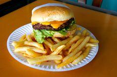 TK burger in Newport or in HB.