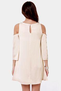 Linda  Arms Wide Open Off-the-Shoulder Ivory Dress at LuLus.com!