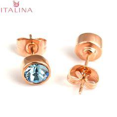 Italina Marca Al Por Mayor 2016 Original promoción mujeres piedra azul circón 6 colores joyas De Cristal Austria Elementos pendientes