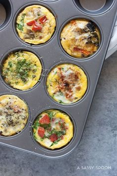 Avoid skipping breakfast by making these healthy egg muffin cups ahead of time with kale, spinach, eggs, cheese, and more veggies!