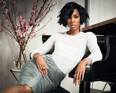Kelly Rowland Unlocks Her Jewelry Box and Explains Her Most Treasured Pieces, including her Maria Tash tragus piercing, in @Instyle Magazine