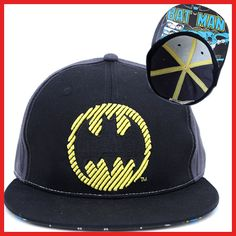 d6db188bb65 DC Comic Batman Flat Bill Cap Flex Fit Hat Size L XL Licensed Flex Fit