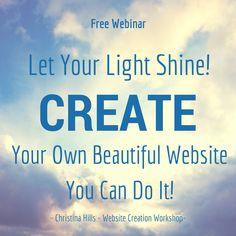 Webinar on Wednesday Jan 21st http://www.websitecreationworkshop.com/2015/get-winter-webinar