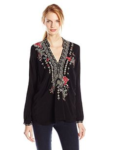 Johnny Was Women's Lacey Leaf Blouse, Black, Small Johnny Was http://www.amazon.com/dp/B00OW2NXKQ/ref=cm_sw_r_pi_dp_rpTuvb02X84AC