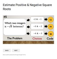 Estimating Square Roots – Bad Dog Breakout for Google Classroom! Google Classroom, Math Classroom, Estimating Square Roots, Teaching Math, Teaching Ideas, Adding And Subtracting Fractions, Math Lab, Test Prep, Educational Technology
