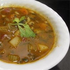 I created this soup after becoming tired of the excess salt and lack of veggies in canned minestrone.  I recalled a great bowl of minestrone that was overflowing with rich vegetables at the 'Sheepherder's Inn' in Sacramento, California.  Great with a hearty bread, romaine salad and a nice Merlot!
