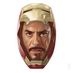 4. IRON MAN #drawing #painting #illustration #fanart #portrait #marvel #comics #instaart #artoftheday #avengers #digitalart…
