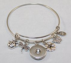 Bangle - sweet nature - silver-tone