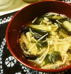 Fat-Fighting Enoki Mushroom Miso Soup
