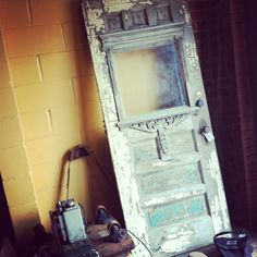 vintage Victorian door. antique.