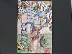 2 point perspective | Mini Matisse: Two-Point Perspective Tree House