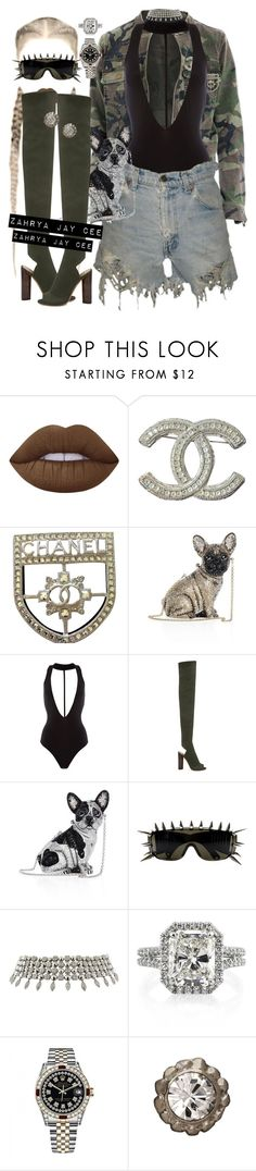 """""""Respect"""" by sphereoflightmovement ❤ liked on Polyvore featuring Lime Crime, Chanel, Judith Leiber, YEEZY Season 2, ZeroUV, Bulgari, Rolex and Otazu"""
